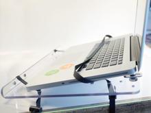 Laptop tray: insert the laptop