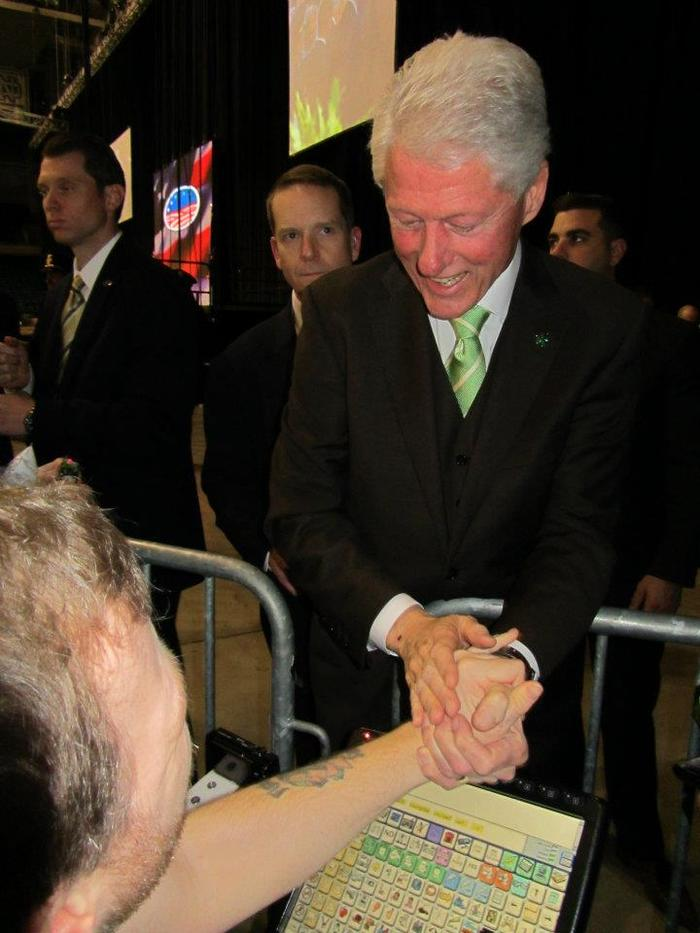 Anthony with Bill Clinton