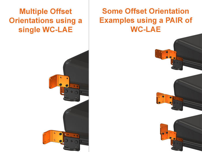 L-Angle Extenders (WC-LAE) as Offsets