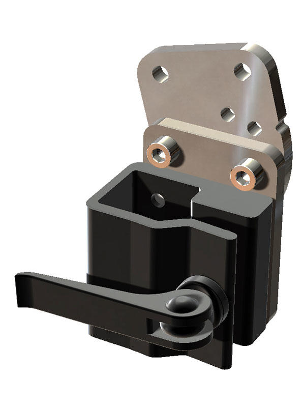 Solid Wheelchair Bracket with Angle Adjust Plate